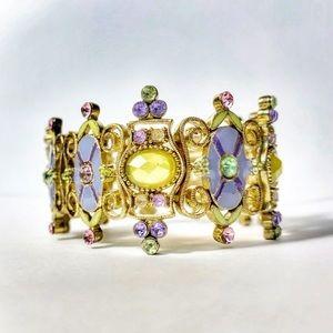 Jewelry - Baroque Edwardian Rhinestone Stretch Bracelet